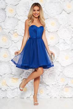 Ana Radu blue occasional corset dress with push-up cups