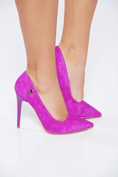 MissQ stiletto from ecological suede with high heels fuchsia shoes