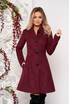 Artista purple elegant coat from non elastic fabric with inside lining