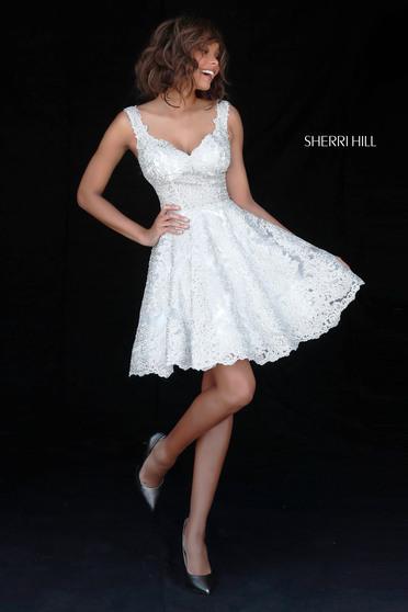 Rochie Sherri Hill 51521 White