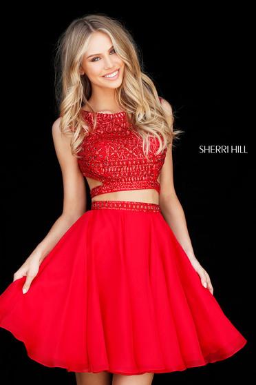 Rochie Sherri Hill 51295 Red