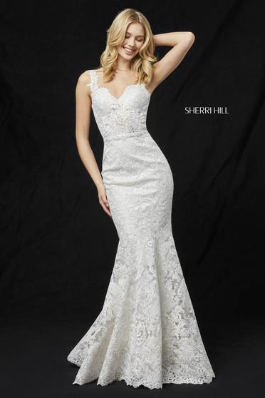 Rochie Sherri Hill 51571 White