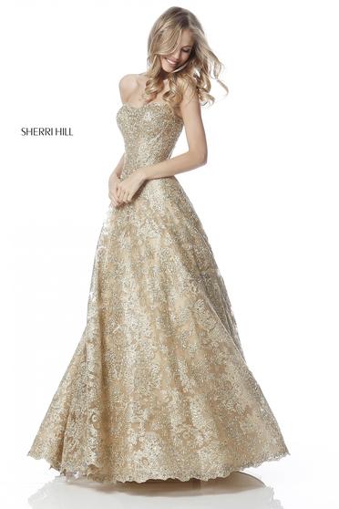 Rochie Sherri Hill 51572 Gold