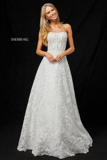 Rochie Sherri Hill 51572 White
