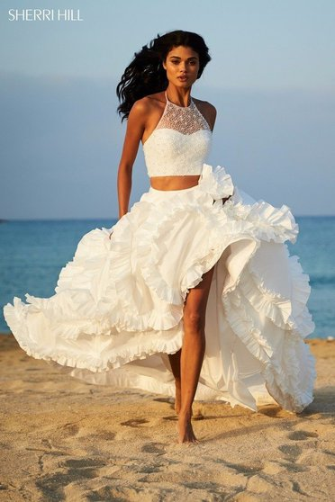Rochie Sherri Hill 51577 White