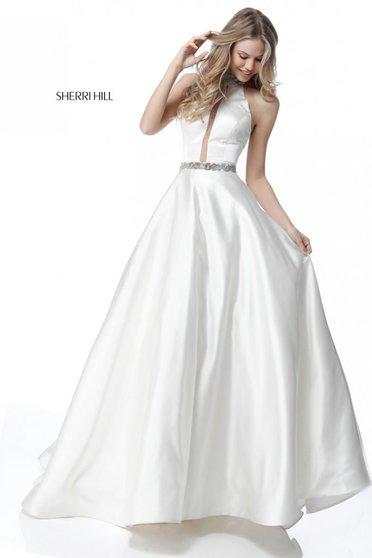 Rochie Sherri Hill 51589 White