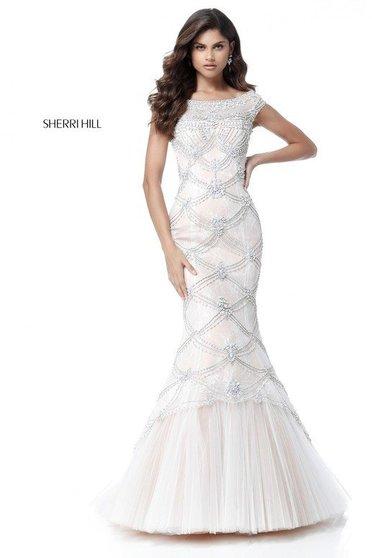 Rochie Sherri Hill 51593 White