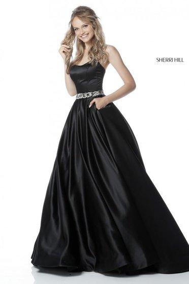 Rochie Sherri Hill 51609 Black