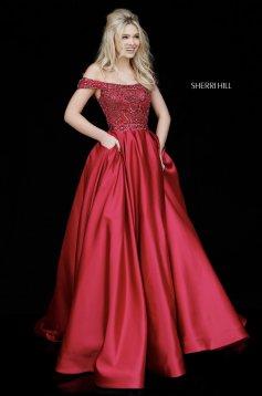 Rochie Sherri Hill 51610 Black