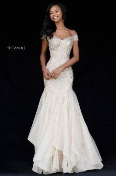 Rochie Sherri Hill 51618 Gold
