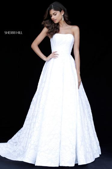 Rochie Sherri Hill 51623 White