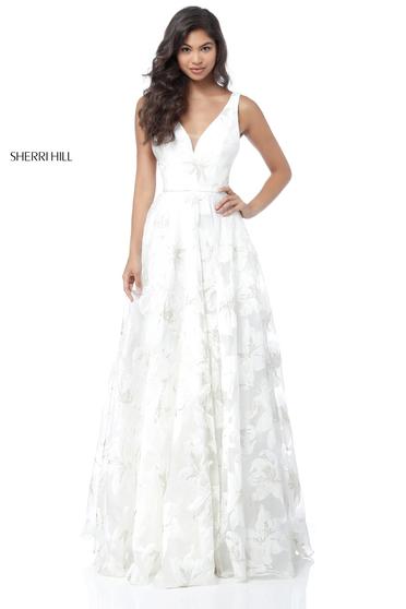 Rochie Sherri Hill 51628 White