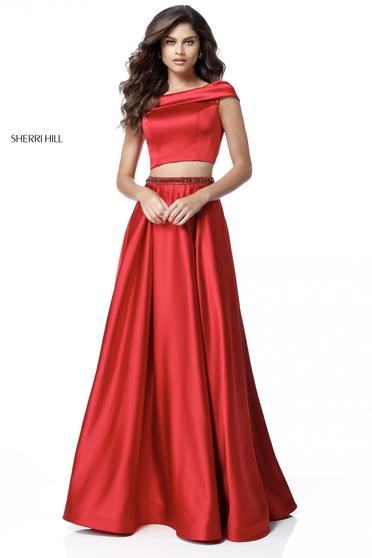 Rochie Sherri Hill 51632 Red