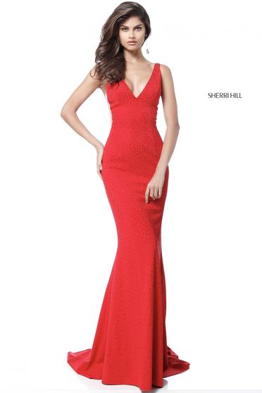 Rochie Sherri Hill 51635 Red