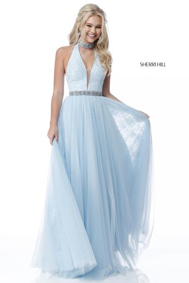 Rochie Sherri Hill 51637 LightBlue