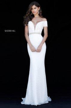 Rochie Sherri Hill 51657 White