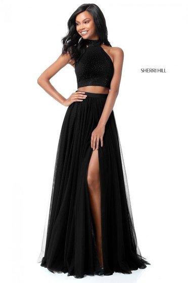 Rochie Sherri Hill 51721 Black