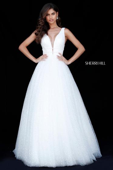 Rochie Sherri Hill 51676 White