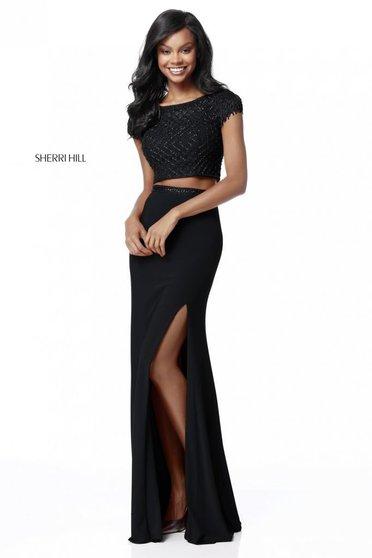 Rochie Sherri Hill 51691 Black