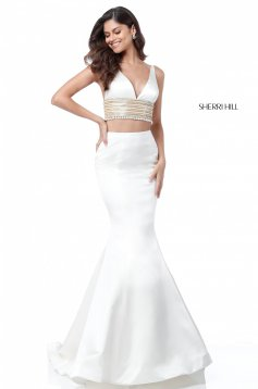 Rochie Sherri Hill 51711 White