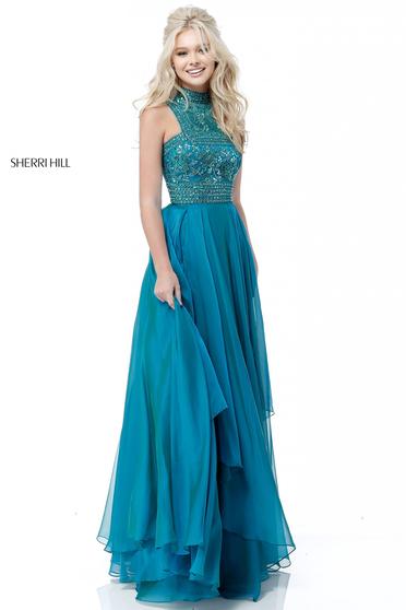 Rochie Sherri Hill 51722 Turquoise