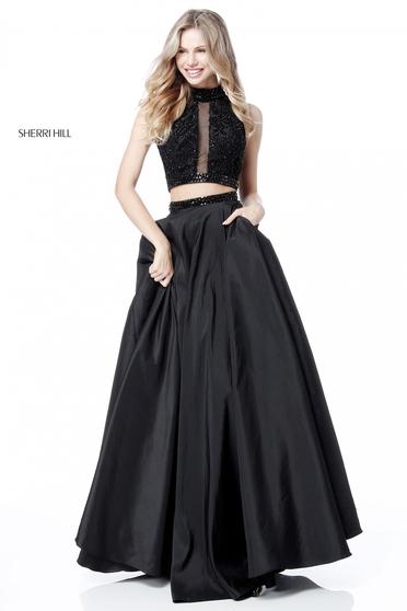Rochie Sherri Hill 51725 Black