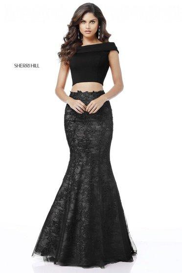 Rochie Sherri Hill 51730 Black