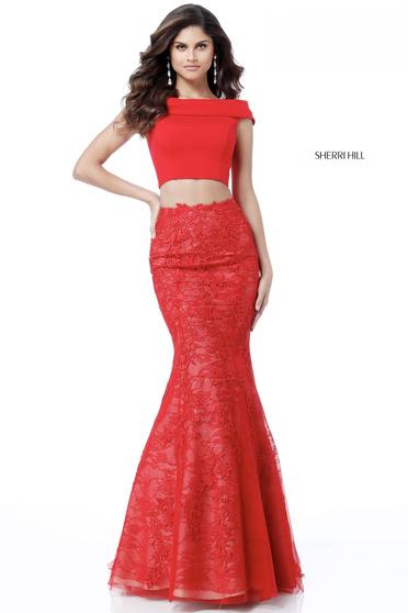 Rochie Sherri Hill 51730 Red