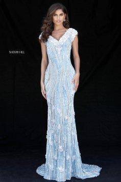 Rochie Sherri Hill 51736 LightBlue