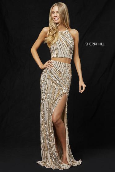 Rochie Sherri Hill 51737 Gold