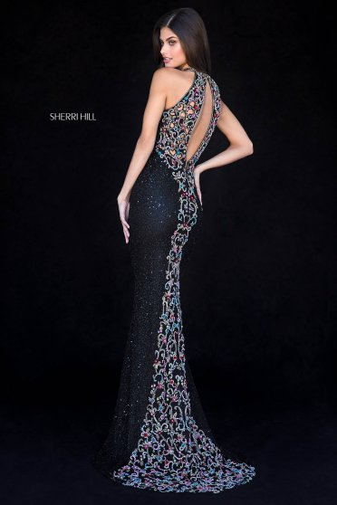 Rochie Sherri Hill 51739 Black