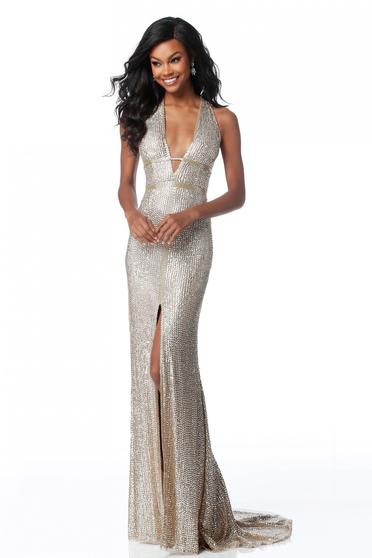 Rochie Sherri Hill 51752 Gold