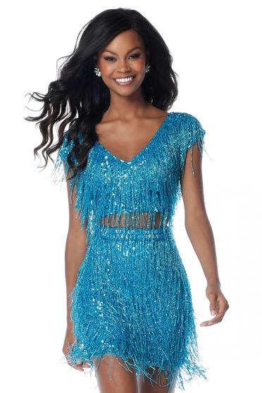 Rochie Sherri Hill 51781 Turquoise