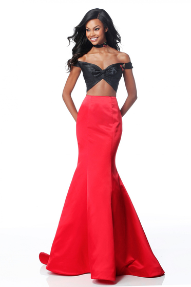 Rochie Sherri Hill 51855 Red