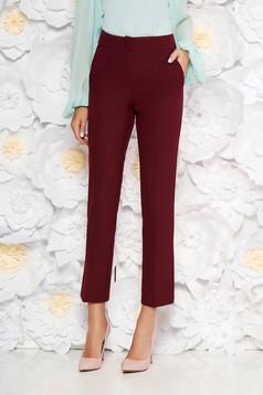 Pantaloni Artista visinii office cu un croi drept cu talie medie din stofa usor elastica cu buzunare