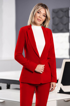 StarShinerS red jacket with inside lining office from non elastic fabric arched cut