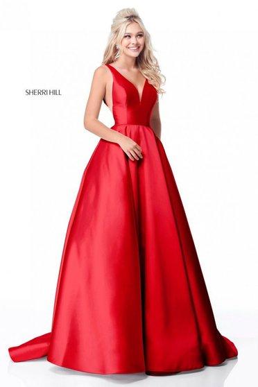 Rochie Sherri Hill 51856 Red