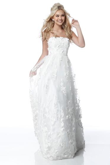 Rochie Sherri Hill 51909 White