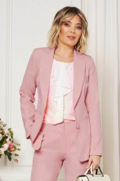 StarShinerS lightpink jacket with inside lining office from non elastic fabric arched cut