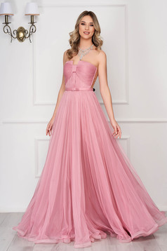 Ana Radu rosa luxurious dress with inside lining from tulle corset