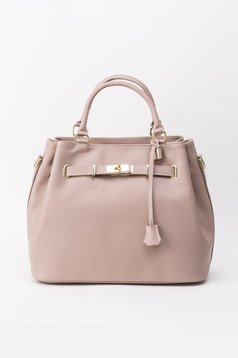Rosa office bag natural leather with metalic accessory