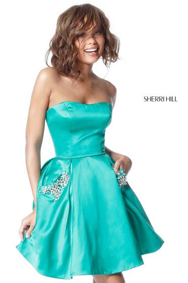 Rochie Sherri Hill 51390 emerald