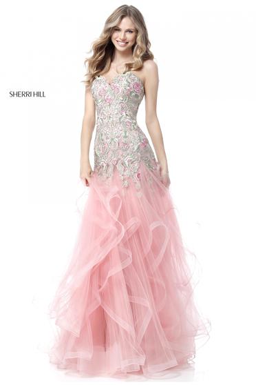 Rochie Sherri Hill 51719 pink/multi.
