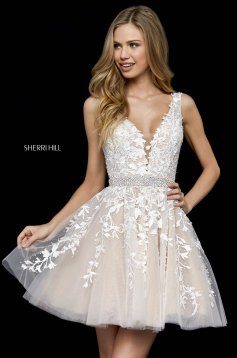 Sherri Hill 52157 White Dress