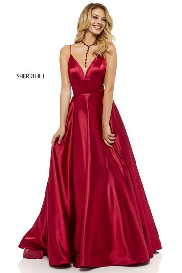 Rochie Sherri Hill 52195 Burgundy
