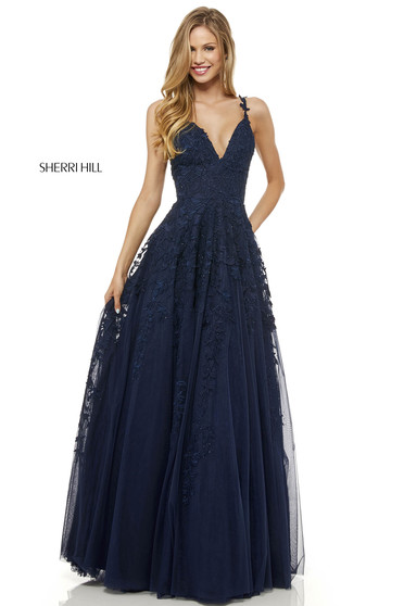 Rochie Sherri Hill 52342 Blue