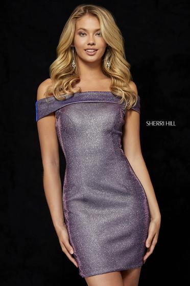 Rochie Sherri Hill 52355 electric purple