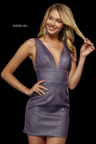 Rochie Sherri Hill 52356 electric purple