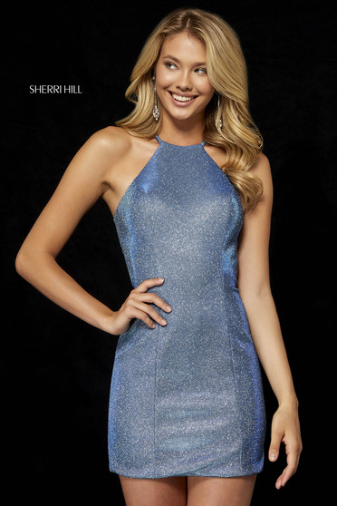 Rochie Sherri Hill de lux albastru aqua