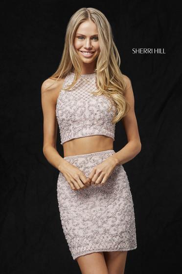 Rochie Sherri Hill 52087 blush